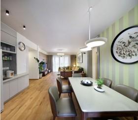 简约风格餐厅客厅一体装修效果图