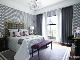 卧室纱窗帘效果图