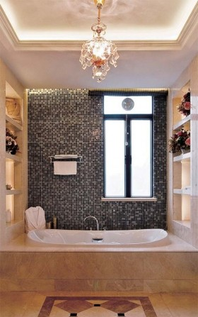 欧式风格卫生间卫生间马赛克背景墙装修效果图图片