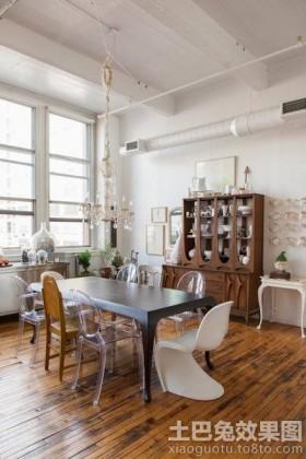 混搭风格家庭餐厅装修效果图片