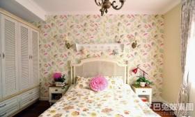 田园风格2013家装卧室壁纸效果图