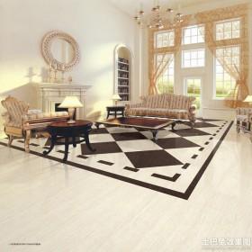 欧式大客厅地板砖效果图