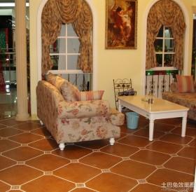 欧式风格客厅地板砖效果图