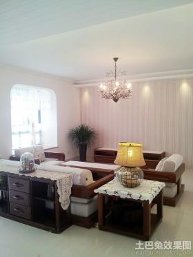 二居美式客厅灯具大全图片