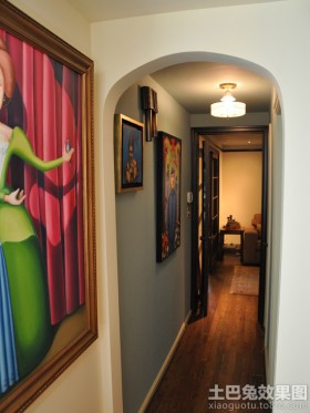 现代家装过道拱门图片