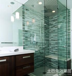 无框玻璃浴室效果图