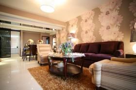 美式两室一厅室内壁纸装修效果图大全