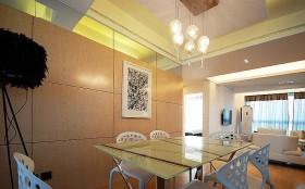 餐厅烤漆板背景墙装修效果图