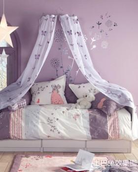 紫色女孩的房间设计图