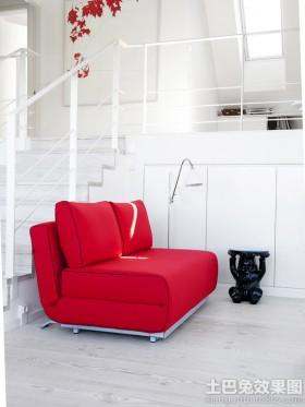 现代简约室内折叠沙发床图片