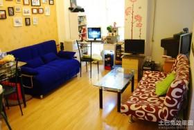 小户型室内宜家折叠沙发床图片