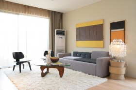 简约客厅家具摆放效果图片