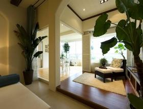 美式风格室内阳台装潢设计 地台装修效果图