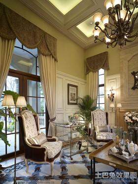 法式新古典客厅单人休闲沙发图片