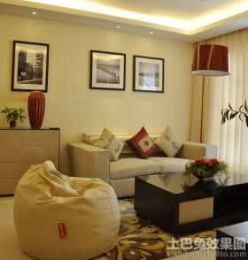 现代80平米小户型客厅挂画装饰效果图
