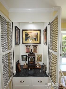 欧式风格室内佛龛图片