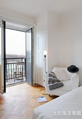 北欧风格卧室休闲椅图片