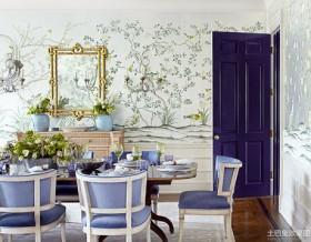 餐厅欧式花纹壁纸设计图