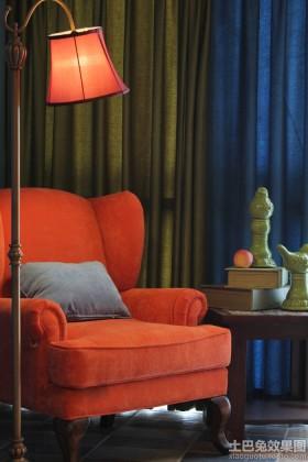 客厅落地灯红色灯罩贴图