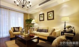 简美式两居室客厅装饰效果图欣赏