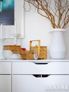室内木质收纳盒效果图片