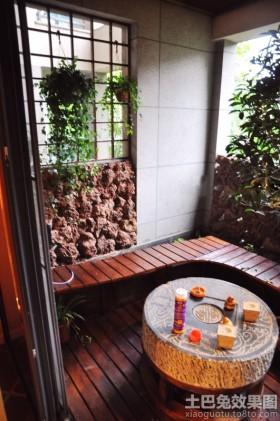 中式休闲阳台装修效果图