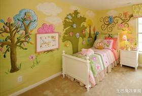 儿童房墙面彩绘效果图片欣赏