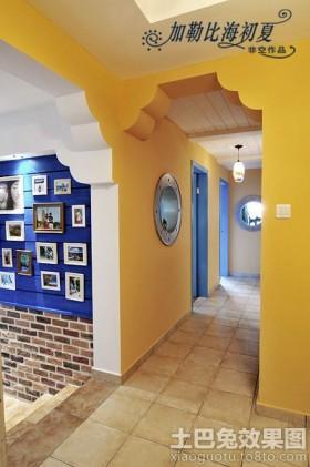 地中海风格室内海藻泥墙面漆效果图