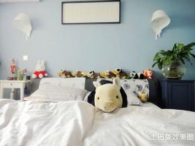 卧室海藻泥墙面漆效果图