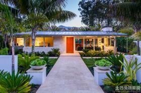 私人别墅庭院绿化效果图