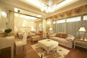 欧式别墅40平米主卧室装修效果图
