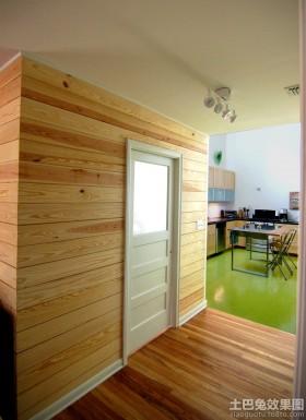 室内绿可生态木墙面效果图