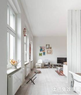 现代简约二居室内装饰效果图片
