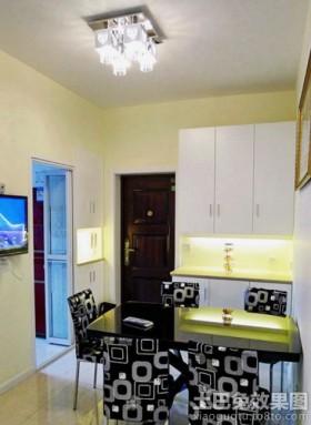 简约50平米两室一厅玄关餐厅效果图