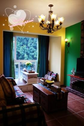 田园风格小户型客厅吊灯效果图