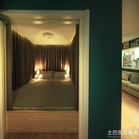 封闭式卧室榻榻米床装修效果图