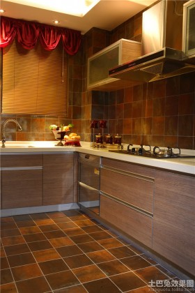 东南亚厨房地砖效果图