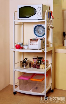 厨房储物架效果图片欣赏