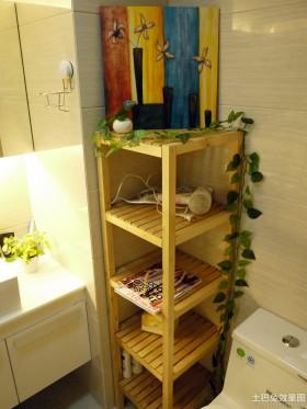 卫生间木质储物架效果图