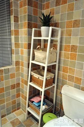 卫生间储物架效果图片