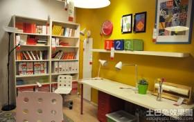 现代书房储物架效果图