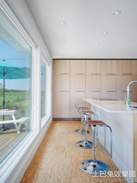 极简主义风格厨房吧台设计