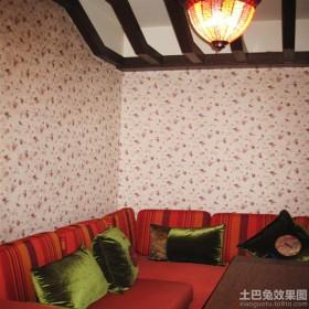 客厅墙布效果图