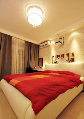 现代风格小户型卧室现代灯具图片