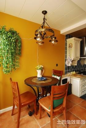 美式混搭二居餐厅装修效果图片