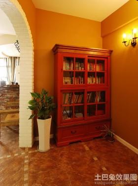家居实木置物柜效果图片