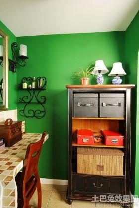 家居靠墙置物柜装饰效果图