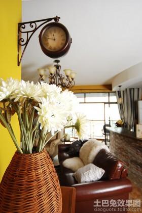 欧式风格客厅室内欧式挂钟图片欣赏