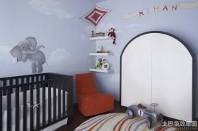 婴儿房墙体彩绘装修效果图片