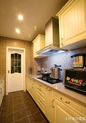 宜家整体一字型厨房装修效果图片